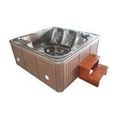 White, Brown Luxurious Spa Jac Bathtub