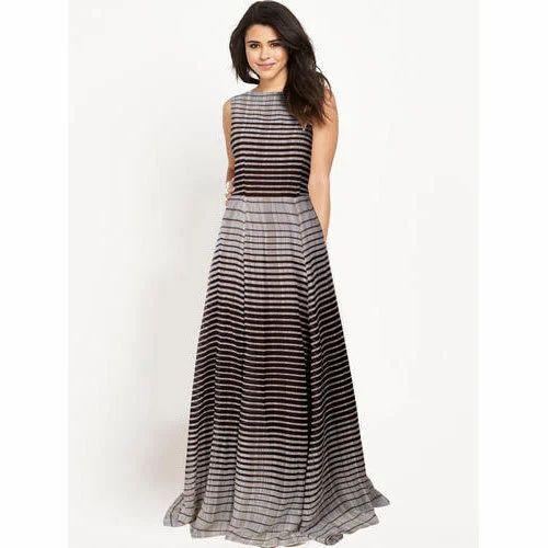 da34073e84 Kiara Trends Sleeveless Ladies Gown