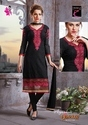 Georgette Black Embroidery Suit