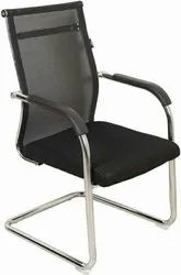 Stainless Steel Galvanized Single Seater Visitor Chair, for Office