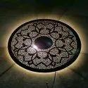 Najam Meatl Iron Decorative Round Light Holder For Decoration