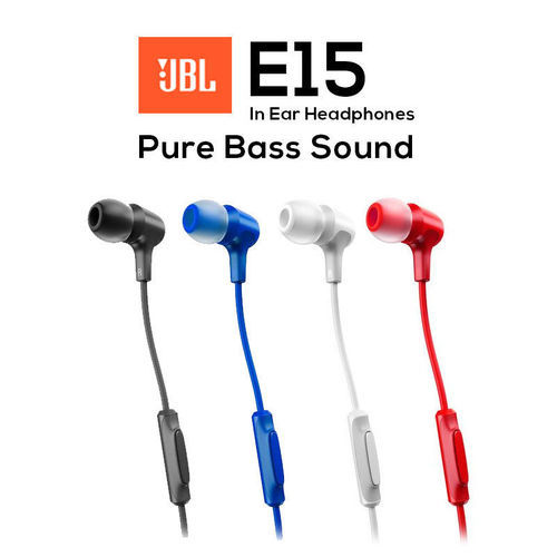 Random JBl E15 Stereo In-Ear Earphone Headset Headphones With Mic ... bff681f3d3