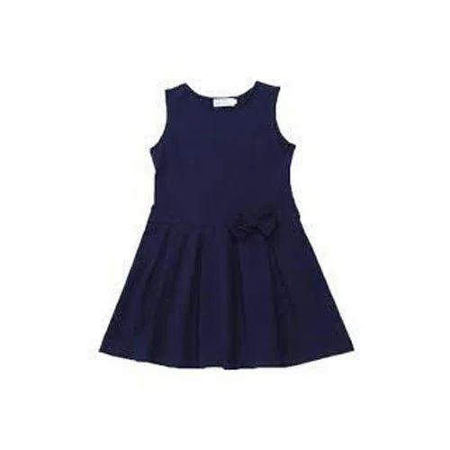 Girls Summer Navy Blue School Dress Rs 250 Piece Aqsa Garment