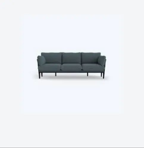 Wooden Cotton Grey 3 Seater Sofa Size