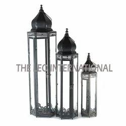 Decorative Morrocon Lantern Set Of 3 For Indoor