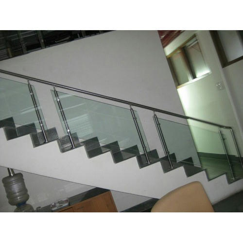 Stainless Steel And Gl Modern Ss Stair Railing