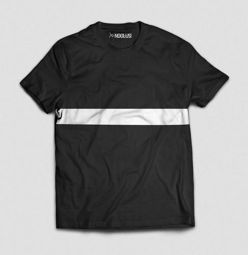d8deb10faf Men Black Noolusi Casual Single Stripe T-Shirt, Size: M And L, Rs ...