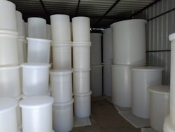 White Chemical dosing tank