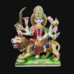 Handmade Marble Durga Statue