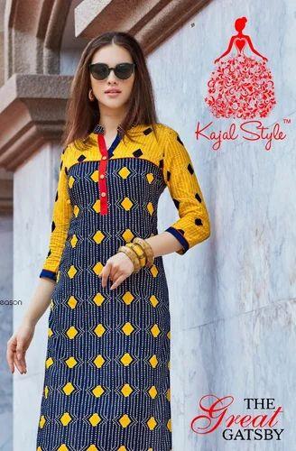 931a8b19aa Cotton Kajal Style Stitched Kurti, Size: XXL, Rs 240 /piece   ID ...