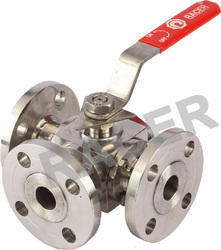 Flanged End Stainless Steel 3 Way Ball Valves