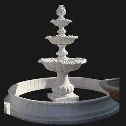 White Marble Stone Fountain