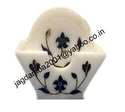Handmade Inlay White Marble Coaster Set