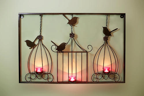 Metal Matte Wall Hanging Candle Stand
