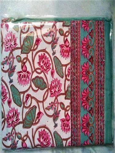 Hand Block Mugal Print Jaipuri Bedsheet