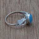 Handmade Chalcedony Gemstone 925 Sterling Silver Ring