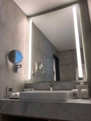 LED Modern Decorative Wall Bathroom Mirror With LED White Light by Venetian Image