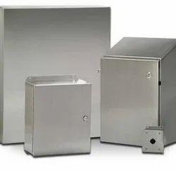 Square 8-Way Cream Sheet Steel Distribution Electrical Panel Box