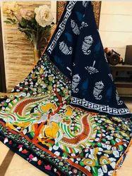 Cotton Hand Block Batik Saree