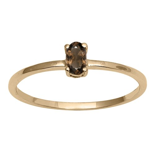 Shine Jewel Women Wedding Jewelry 925 Sterling Smoky Gemstone Silver Ring Jewelry