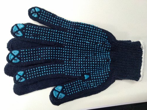 Blue Cotton Dotted Glove