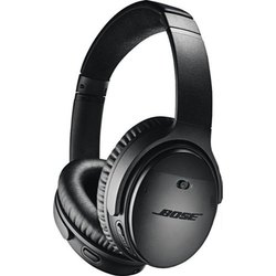 Black Bose QuietComfort 35 Wireless Noise Cancelling Headphones, Model Number: Q35
