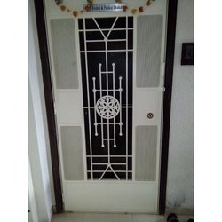 Rectangular White Mild Steel Single Door