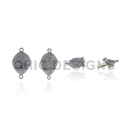Designer Diamond Bead Connector