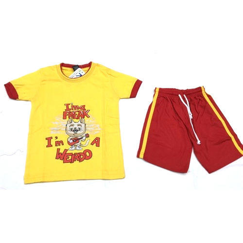 Round Half Sleeves Kids T Shirt Set