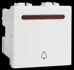 White Havells 6 AX 1way Switch, 240 V