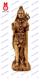 Lord Shiva Standing On Rock Carved Statue