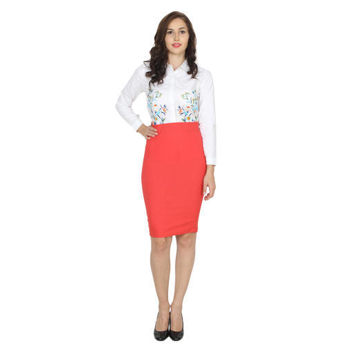 28918b78e Ladies Lycra Cotton Medium Peach Pencil Skirts, Rs 150 /piece | ID ...