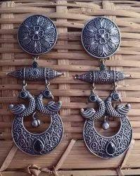 16 Gm Silver Look Alike Earrings