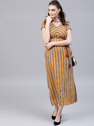 Cotton Printed Maxi Dress
