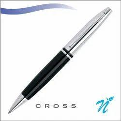 Calais Chrome/Black Ball Point Pen
