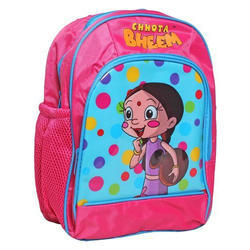 Pink Girls School Printed Backpack