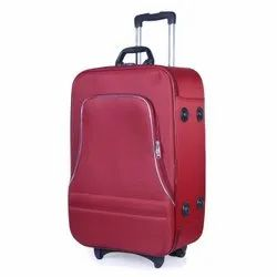 Red PVC Coated Polyester Luggage Trolley Bag, Size: 20 Inch