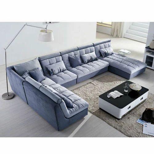 U Shaped Wooden Sofa Set