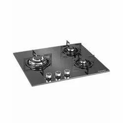 Black Kutchina HB 3B ECO BL 60CM Glass Built In Hob, Packaging Type: Carton Box