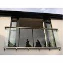 10-50 Square Feet Balcony Toughened Glass, Shape: Flat