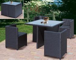 Garden Rattan Chair Set