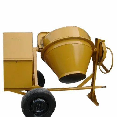 Tilting Drum Mixer Diesel Engine Mobile Concrete Mixer, Drum Capacity: 300-350L, for Construction