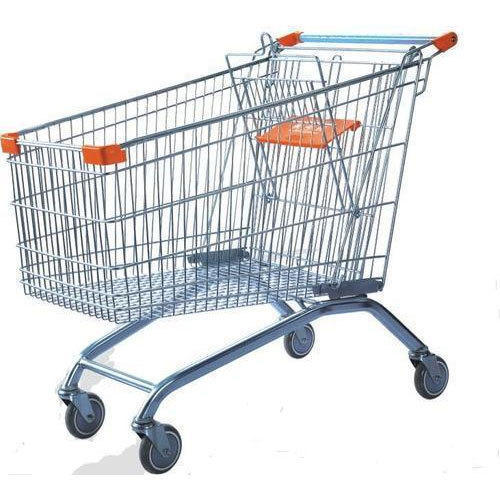 Stainless Steel Three-Wheel Shopping Trolley