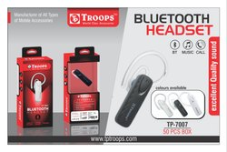 Troops Tp-7007 Bluetooth Single Headset