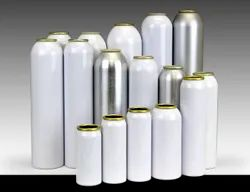Multicolor Cylindrical Aluminium Rigid Containers, For Food Packaging, Size: Multiple