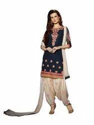 Punjabi suit Unstitched Georgette Suits, Dry clean