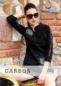 Seriema Present Carbon Pure Cotton Denim Designer Short Top