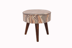 Wooden Upholstered Footstool