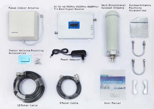 Himster Tri Band 4g 4g 3g Wireless Mobile Signal Booster Full Kit