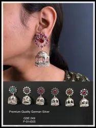 German Silver Earrings GSE 249